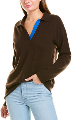 Chinti and Parker Collared Cashmere & Wool-Blend Sweater