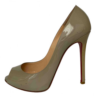 Christian Louboutin Grey Patent leather Sandals