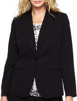 Liz Claiborne One-Button Peak Label Blazer - Plus