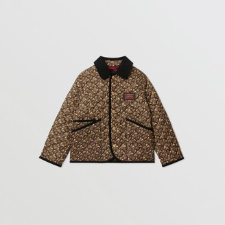 Burberry Childrens Monogram Print Diamond Quilted Jacket