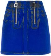 Courreges flocked mini skirt