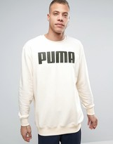 Puma Relaxed Longline Sweat In Cream