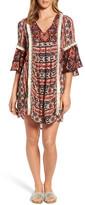 Kas Ruby Ruffle Sleeve Tunic Dress