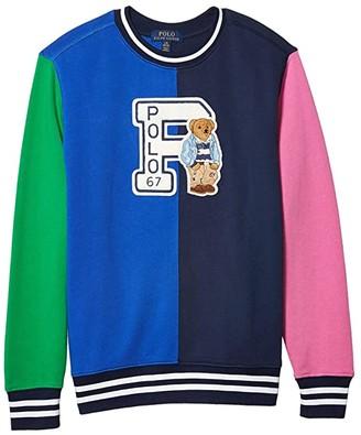 Polo Ralph Lauren Polo Bear Cotton Sweatshirt (Big Kids) (Travel Blue) Boy's Clothing