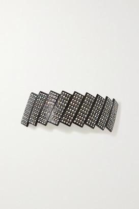 Valet Studio Beatrix Crystal-embellished Resin Hair Clip - Black