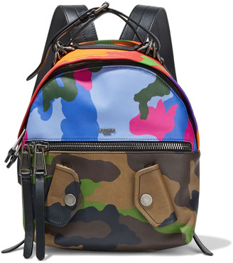 Moschino Printed Leather Backpack