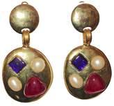 Chanel Gold-Tone Metal Pearl & Gripoix Chandelier Earrings