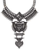 SUGARFIX by BaubleBar Amazon Bib Necklace - Dark Silver