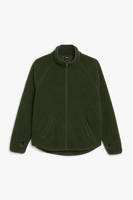 Monki Zip teddy sweater