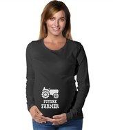 TeeStars - Future Farmer - Cute Mom To Be Pregnancy Maternity Long Sleeve Shirt