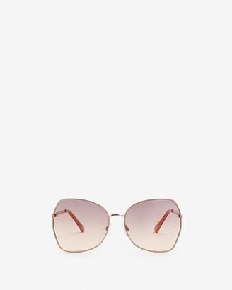 Express Round Nude Metal Frame Sunglasses