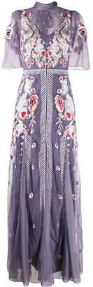 Temperley London Firebird flower embroidery gown