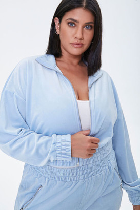 Forever 21 Plus Size Velour Zip-Up Jacket