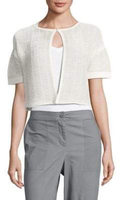 Lafayette 148 New York Shadow Striped Cropped Top