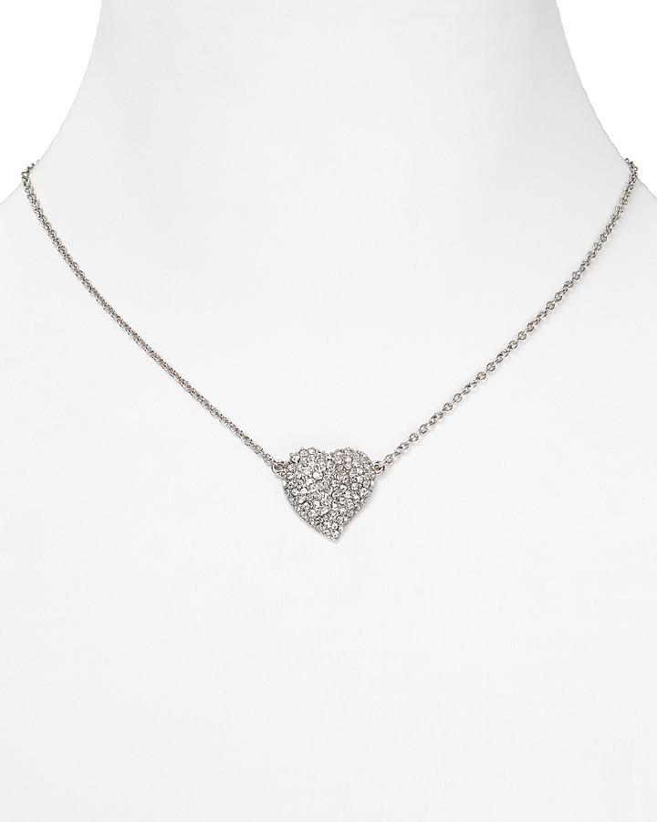"Carolee Heart Pendant Necklace, 16"""
