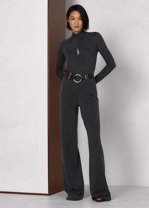 Ralph Lauren Worsted Wool Long-Sleeve Jumpsuit