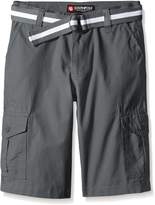 Southpole Big Boys Belted Ripstop Basic Cargo Short with Washing All Season