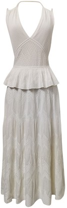 Chanel White Silk Dresses