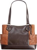 Giani Bernini Sandalwood Leather Shopper, Only at Macy's