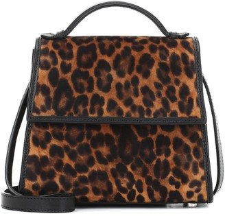 Hunting Season The Small Top Handle leopard-print leather-trimmed bag