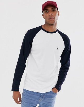 French Connection long sleeve raglan crew neck top-White