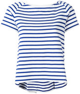 Sacai striped boat neck top - women - Cotton - 1