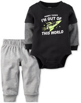 Carter's 2-Pc. Layered-Look Bodysuit & Pants Set, Baby Boys (0-24 months)