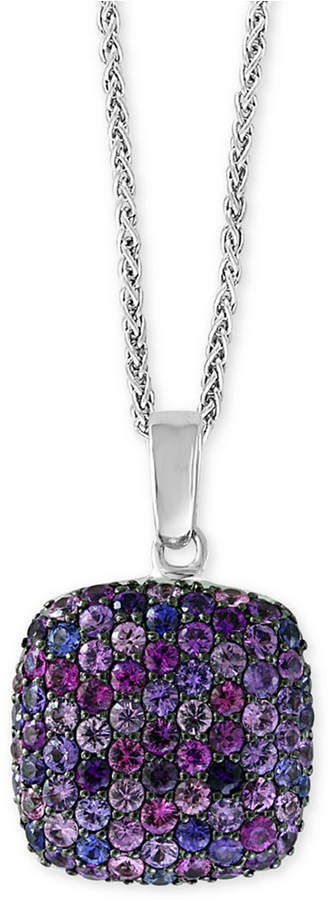 "Effy Splash by Purple Sapphire 18"" Pendant Necklace (7/8 ct. t.w.) in Sterling Silver"