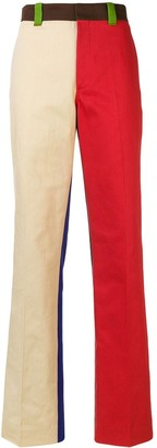 Calvin Klein Straight Leg Colourblock Trousers