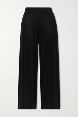 Leset Fallon Stretch-satin Pants - Black