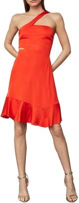 BCBGMAXAZRIA Asymmetric Neck Cutout Swing Dress