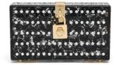 Dolce & Gabbana Embellished Acrylic-Covered Lace Clutch