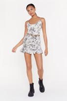 Nasty Gal Womens Plant Take My Eyes Off You Floral Ruched Dress - white - 14, White