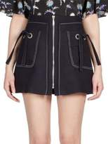 Kenzo Zip-Front Mini Skirt