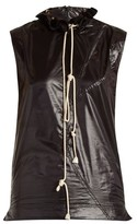 Calvin Klein 205w39nyc - Ruffle Trimmed Drawstring Neck Top - Womens - Black