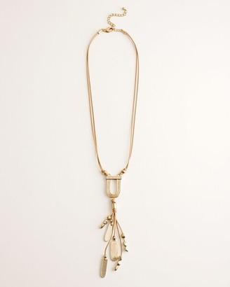 Chico's Chicos Goldtone Textured Pendant-Tassel Necklace