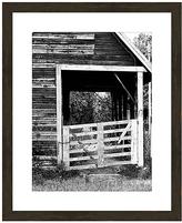 PTM Images Black & White Barn Framed Print