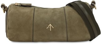 MANU Atelier Cylinder Suede Shoulder Bag
