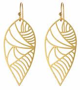 Gold Deco Leaf Earrings