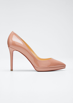 Christian Louboutin Pigalle Plato Patent Red Sole Pumps