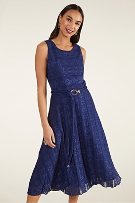 Yumi Lace Midi Dress With Rope Detail