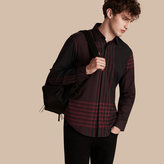 Burberry Graphic Check Cotton Shirt