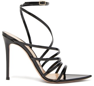 Gianvito Rossi Eclyspe 105 Patent-leather Sandals - Womens - Black