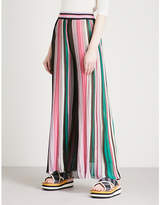 Missoni Striped wide-leg knitted trousers