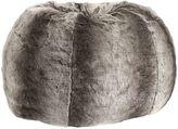 Dark Gray Ombre Faux-Fur Beanbag, Slip, Large
