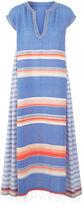 Lemlem Blue Stripe Cotton Elsi Caftan Dress