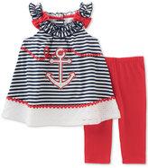 Kids Headquarters 2-Pc Nautical Tunic & Leggings Set, Toddler & Little Girls (2T-6X)