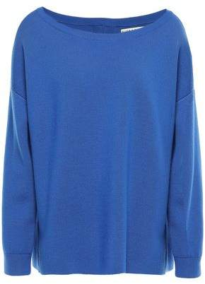 Alice + Olivia Zip-detailed Stretch-wool Sweater