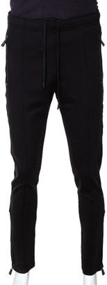 Moncler Black Knit Zipper Detail Pants M