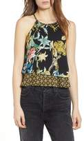 Band of Gypsies Tropical Print Layered Tank